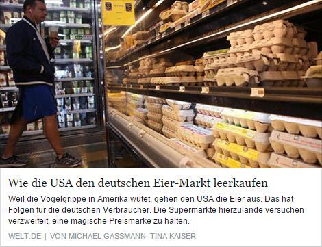 USA-Eierrmarkt