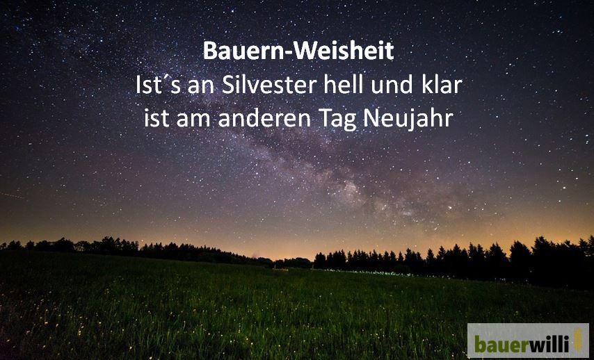 Neujahr bauer willi - Lustige silvester sms ...