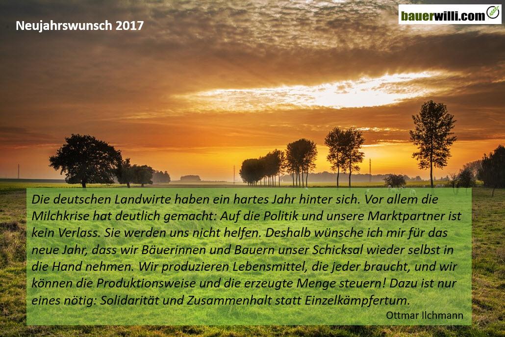 Neujahrswunsch von Ottmar Illchmann - Bauer Willi