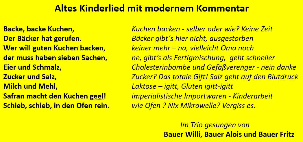 Au Backe Backe Backe Kuchen Bauer Willi
